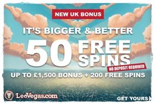 Leo Vegas 50 Free Spins No Deposit