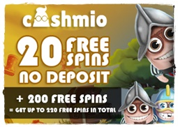 Cashmio Casino Free Spins No Deposit